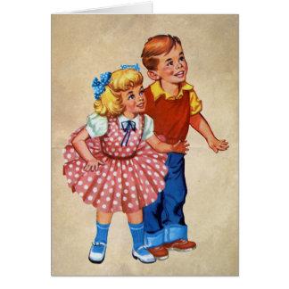 Enfants de terre de sucrerie carte de vœux