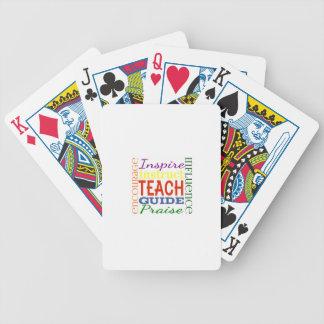 Enfants d'école de professeurs d'image de mot de p jeux de cartes