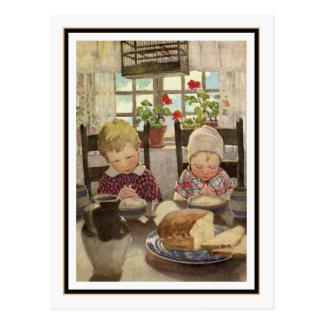 Enfants disant la grâce par Jessie Willcox Smith Cartes Postales