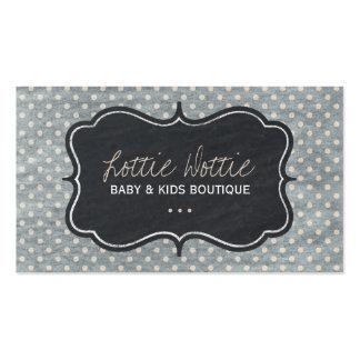 Enfants et carte de visite de boutique de bébé