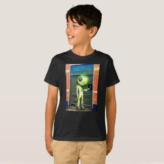 Enfants étrangers d'art de rue du DJ T-shirt
