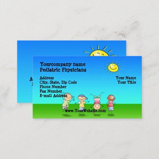 Enfants Jouant Dehors Cartes De Visite Jour