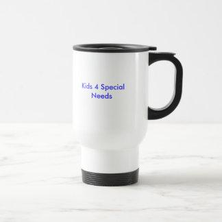 Enfants les 4 besoins spéciaux mug de voyage en acier inoxydable