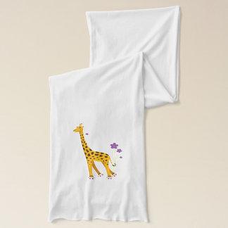 Enfants mignons de girafe de bande dessinée de écharpe