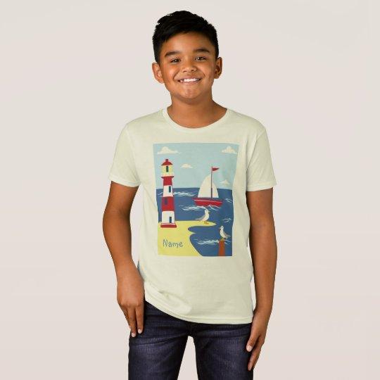 Enfants organiques - T-shirt nautique de garçons