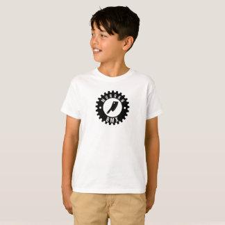 ENFANTS - pièce en t blanche - logo noir T-shirt