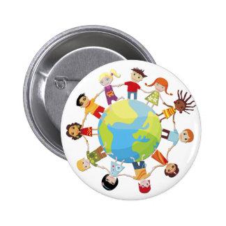 Enfants pour la paix du monde badge rond 5 cm