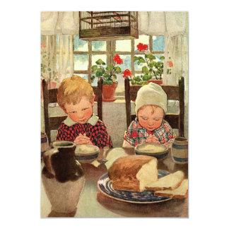 Enfants reconnaissants vintages ; Jessie Willcox Carton D'invitation 12,7 Cm X 17,78 Cm