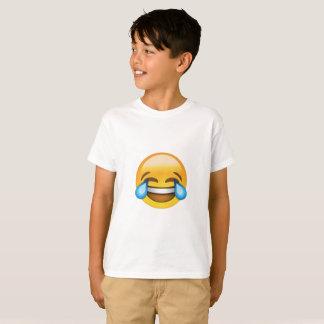 Enfants riant le T-shirt bruyant d'Emoji