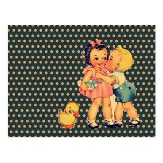 enfants vintages d école de rétros enfants mignons cartes postales