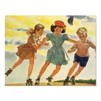 Enfants vintages, invitation de fête