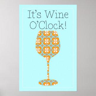 Enfin ! C'est heure de vin ! Affiche moderne