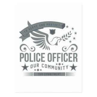 Engagement de policier carte postale