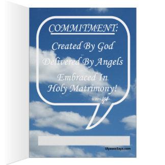 Engagement d'étreinte dans le mariage saint carte de vœux
