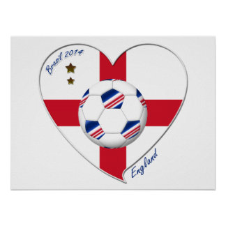 «ENGLAND» Soccer Team. Football de l'Angleterre  Posters
