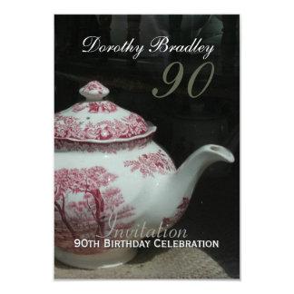 English Teapot - 90th Birthday Celebration Invite