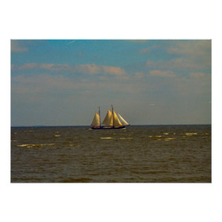 Enkhuizen, bateau à voile traditionnel, Ijselmeer Posters