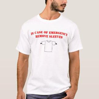 Enlevez en cas d'urgence le T-shirt de douilles