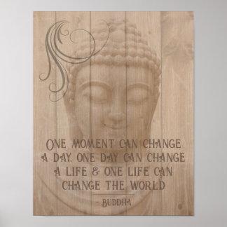 Énonciation bouddhiste de pensée positive poster