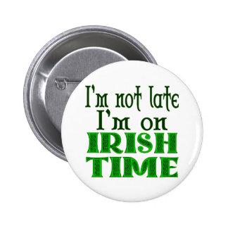 Énonciation drôle de temps irlandais badge