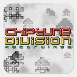 Enregistrements de Division de Chiptune Sticker Carré