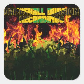 Enregistrements de Division de Dancehall Sticker Carré