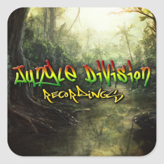 Enregistrements de Division de jungle Sticker Carré