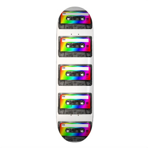 Enregistreur à cassettes d'arc-en-ciel plateau de skateboard