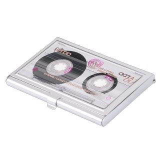 Enregistreur à cassettes de vieille école étui pour cartes de visite
