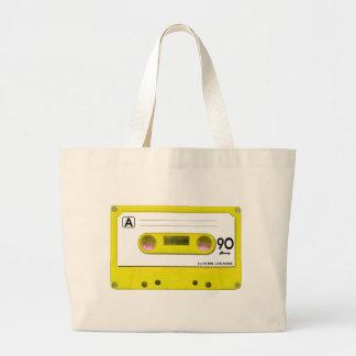 Enregistreur à cassettes jaune grand sac