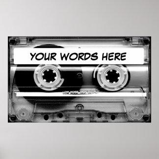 Enregistreur à cassettes poster