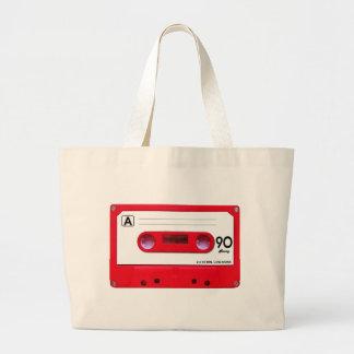 Enregistreur à cassettes rouge grand sac