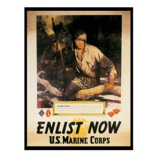 Enrôlez maintenant la deuxième guerre mondiale carte postale