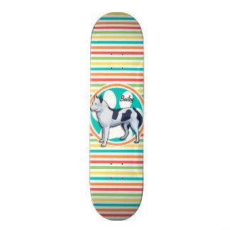 Enroué Rayures lumineuses d arc-en-ciel Skateboards Customisés