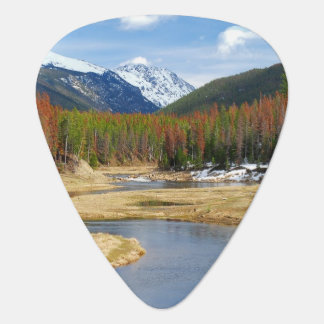Enroulement le fleuve Colorado avec des montagnes Onglet De Guitare