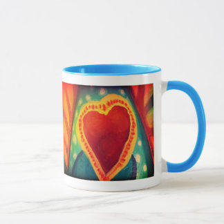 Enrouler de 2 coeurs autour de tasse