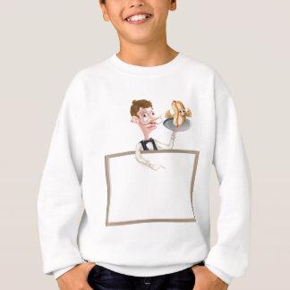 Enseigne de maître d'hôtel de serveur de hot dog sweatshirt
