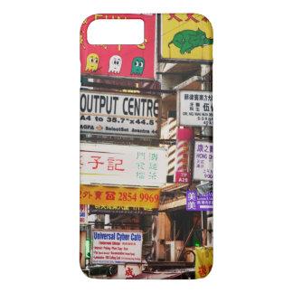 Enseignes au néon dans les rues de Hong Kong Coque iPhone 7 Plus
