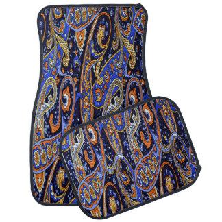 Ensemble abstrait coloré de conception de 4 tapis tapis de voiture