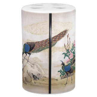 Ensemble asiatique de Bath d'animaux d'oiseaux de Distributeurs De Savon