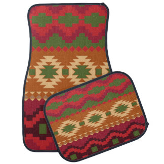 Ensemble aztèque de conception d'impression de 4 tapis de voiture