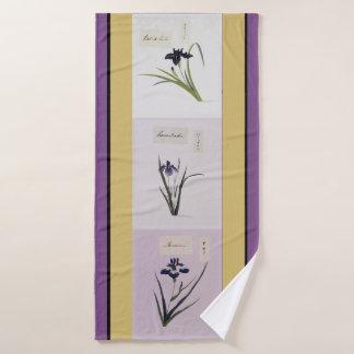Ensemble botanique asiatique de serviette de Bath
