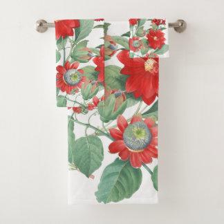 Ensemble botanique de serviette de Bath de collage