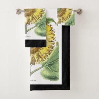 Ensemble botanique de serviette de Bath de fleurs