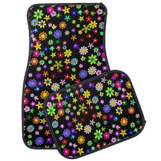 Ensemble complet de fleurs de tapis coloré de
