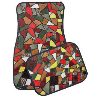 Ensemble criqué décoratif de carreau de céramique tapis de voiture