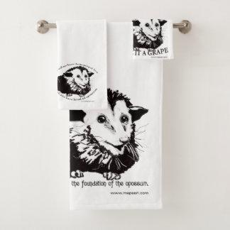 Ensemble customisé de serviette de salle de bains