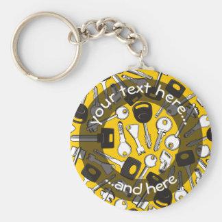 Ensemble d'arrière - plan de clés porte-clé rond