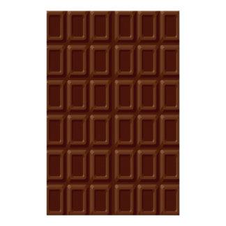 Ensemble de barre de chocolat papiers à lettres