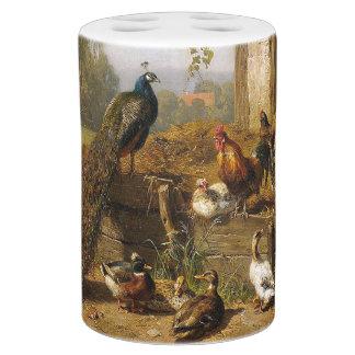 Ensemble de Bath de ferme d'oiseau de canetons de Accessoires De Salle De Bains